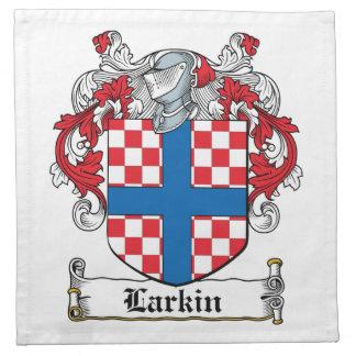 Escudo de la familia de Larkin Servilletas