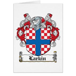 Escudo de la familia de Larkin Tarjeta De Felicitación