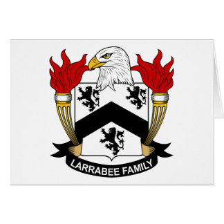 Escudo de la familia de Larrabee Tarjeta De Felicitación