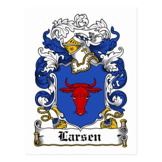 Escudo de la familia de Larsen Tarjetas Postales