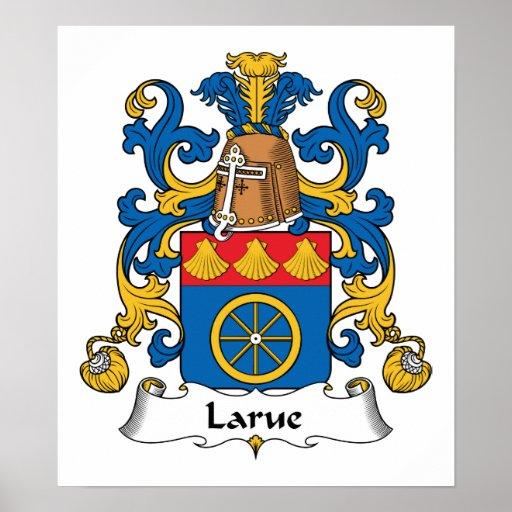 Escudo de la familia de Larue Posters