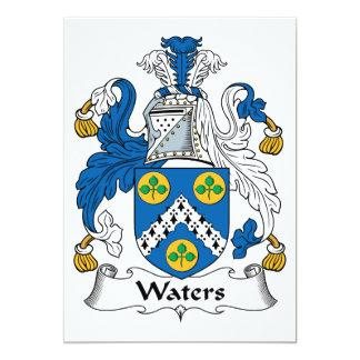 Escudo de la familia de las aguas comunicado personalizado