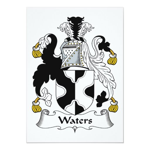 """Escudo de la familia de las aguas invitación 5"""" x 7"""""""