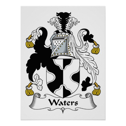 Escudo de la familia de las aguas póster