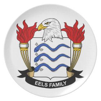 Escudo de la familia de las anguilas platos