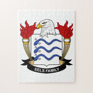 Escudo de la familia de las anguilas puzzle