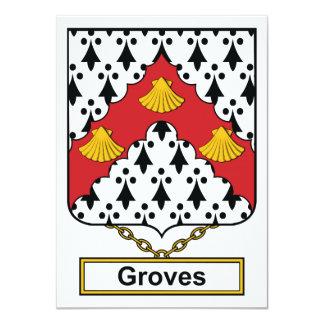 Escudo de la familia de las arboledas comunicado personalizado