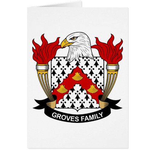 Escudo de la familia de las arboledas felicitacion