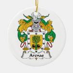 Escudo de la familia de las arenas ornamentos de navidad