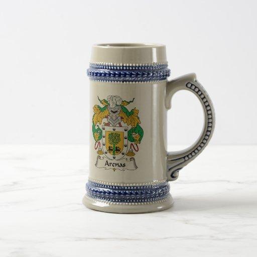 Escudo de la familia de las arenas taza de café