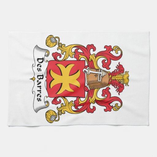 Escudo de la familia de las barras del DES Toallas De Mano