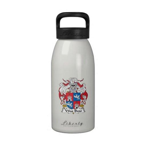 Escudo de la familia de las boas de Vilas Botella De Beber