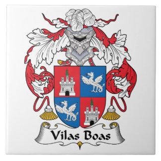Escudo de la familia de las boas de Vilas Azulejo