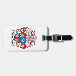 Escudo de la familia de las boas de Vilas Etiquetas De Equipaje