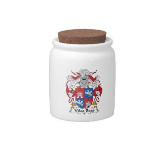 Escudo de la familia de las boas de Vilas Jarra Para Caramelo