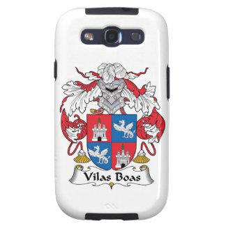 Escudo de la familia de las boas de Vilas Galaxy S3 Protectores