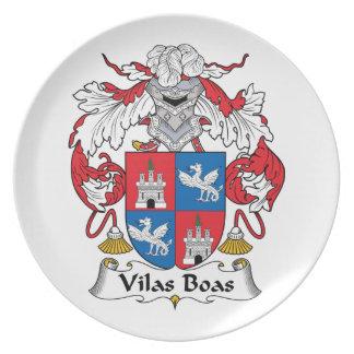 Escudo de la familia de las boas de Vilas Plato De Comida