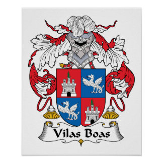 Escudo de la familia de las boas de Vilas Posters
