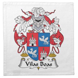 Escudo de la familia de las boas de Vilas Servilleta Imprimida
