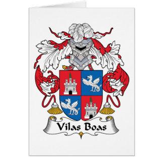 Escudo de la familia de las boas de Vilas Felicitación