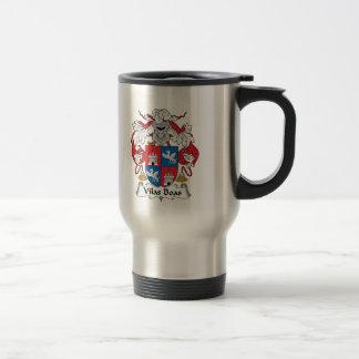 Escudo de la familia de las boas de Vilas Taza De Café