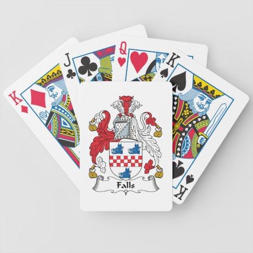 Escudo de la familia de las caídas baraja cartas de poker