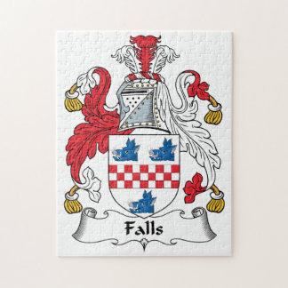 Escudo de la familia de las caídas puzzle con fotos