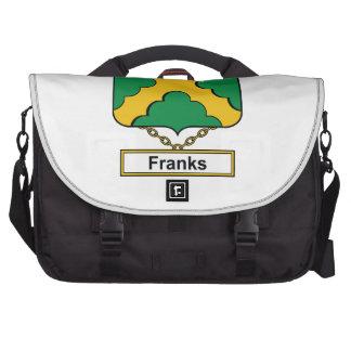 Escudo de la familia de las cartas francas bolsas de portátil