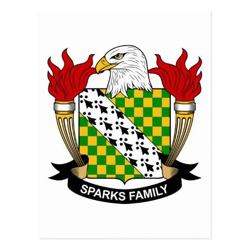Escudo de la familia de las chispas postales