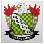 Escudo de la familia de las chispas servilleta