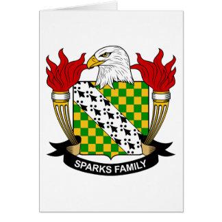 Escudo de la familia de las chispas tarjetón