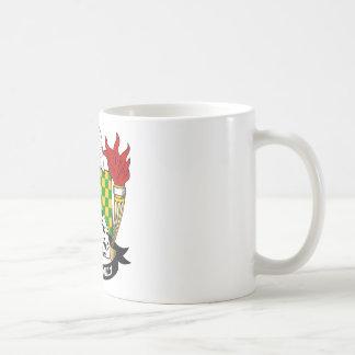 Escudo de la familia de las chispas taza de café