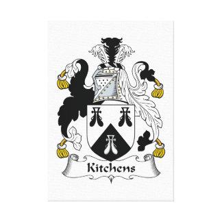Escudo de la familia de las cocinas lienzo envuelto para galerias