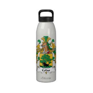 Escudo de la familia de las colas botellas de agua reutilizables