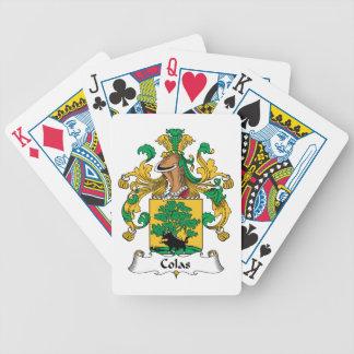 Escudo de la familia de las colas barajas de cartas