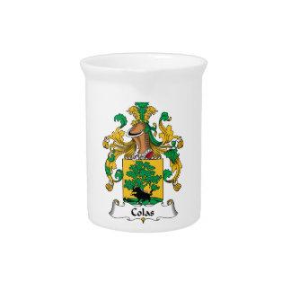 Escudo de la familia de las colas jarra para bebida