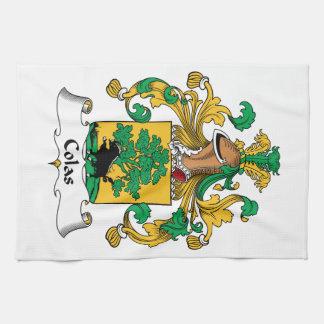 Escudo de la familia de las colas toalla de mano