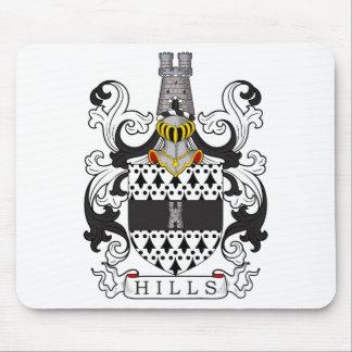 Escudo de la familia de las colinas alfombrilla de ratón