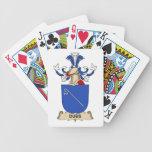 Escudo de la familia de las copias barajas de cartas