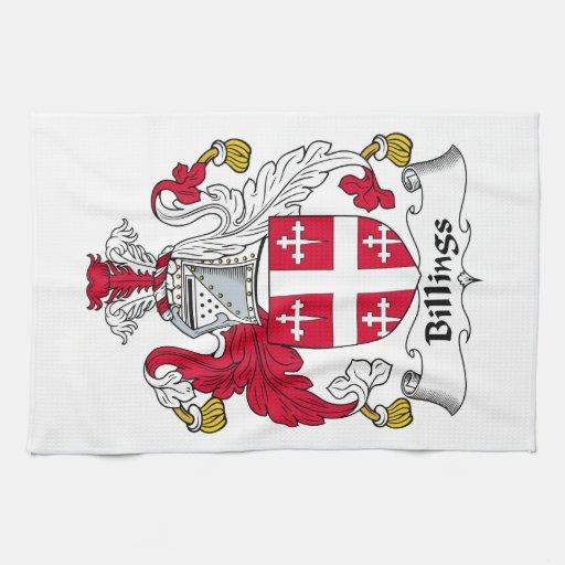 Escudo de la familia de las facturaciones toallas de cocina