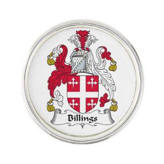 Escudo de la familia de las facturaciones pin