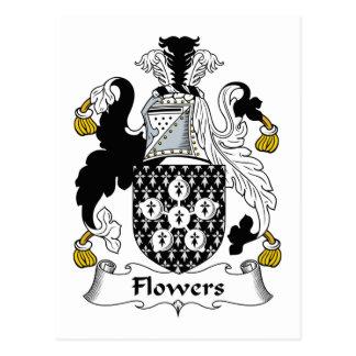 Escudo de la familia de las flores tarjetas postales