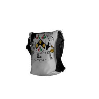 Escudo de la familia de las huevas bolsas messenger