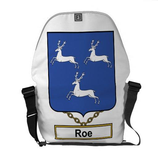 Escudo de la familia de las huevas bolsa de mensajería