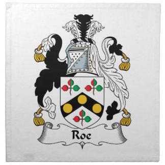 Escudo de la familia de las huevas servilletas de papel