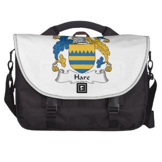 Escudo de la familia de las liebres bolsas para portátil