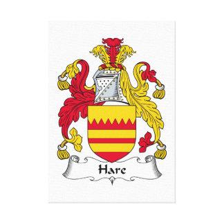 Escudo de la familia de las liebres lona envuelta para galerías