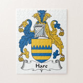 Escudo de la familia de las liebres rompecabeza