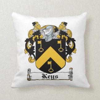 Escudo de la familia de las llaves almohada