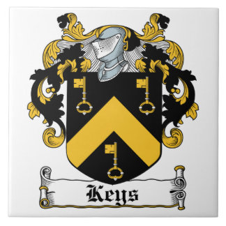 Escudo de la familia de las llaves azulejo